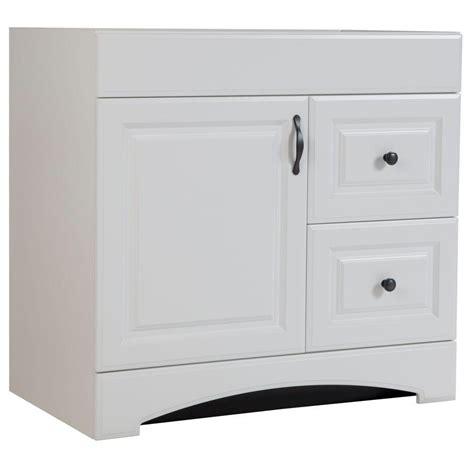 glacier bay regency 36 in vanity cabinet only in white