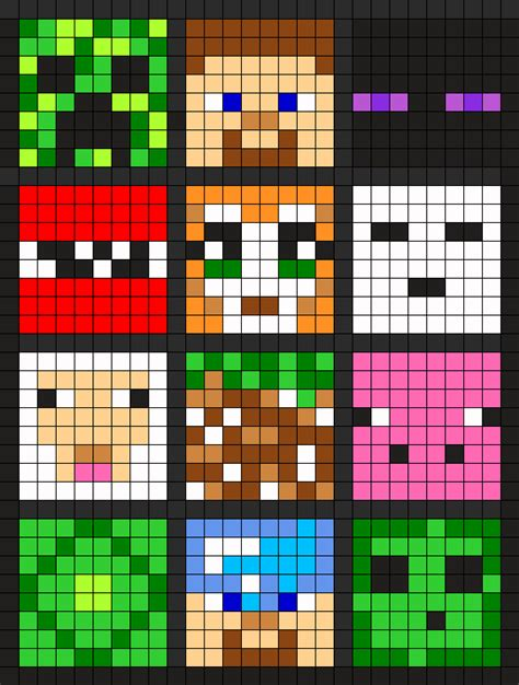 perler bead minecraft patterns minecraft perler bead pattern bead sprites misc fuse
