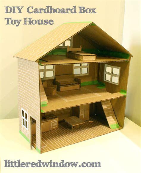 diy cardboard box toy house  crazy craft lady