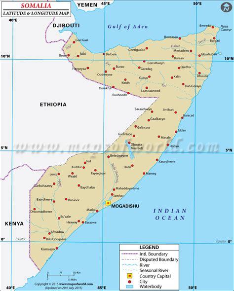 latitude and longitude maps somalia latitude and longitude map