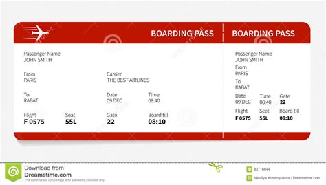 Boarding Card Template by Boarding Card Template Boarding Pass Invitation Templates