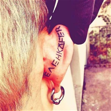 tattoo on back of ear cartilage ear tattoos best tattoo ideas gallery part 2