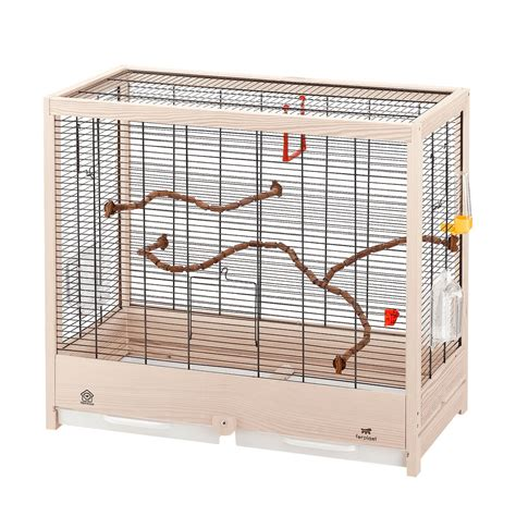 gabbia in legno per uccelli gabbia in legno ferlpast giulietta 6 per canarini e