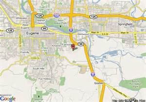 map of eugene oregon map of comfort suites eugene eugene