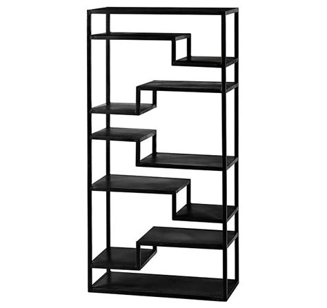 Black Metal Shelf Unit by Industrial Loft Style Black Metal Furniture Homegirl