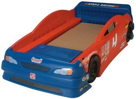 step 2 toddler car bed step 2 stock car convertible bed kids bedroom furniture race car theme decals ebay