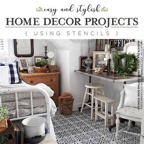 easy and stylish home decor projects using stencils