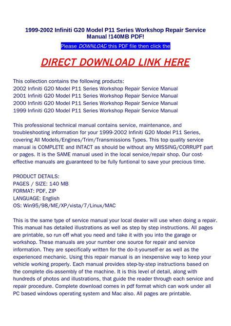 2000 infiniti g20 service repair manual set ebay 1999 2002 infiniti g20 model p11 series workshop repair service manual 140mb pdf by food issuu