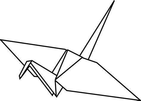 Origami Crane Drawing - free vector graphic origami folded paper swan free