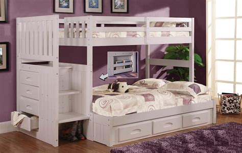 queen and twin bunk bed twin over queen bunk bed with stairs newsonair org
