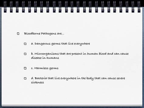 bloodborne pathogens policy template bloodborne pathogens policy template free