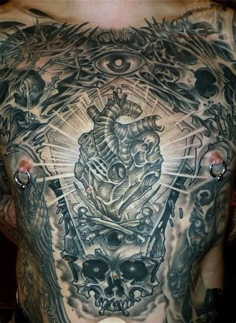 tattoo chest skull 76 crazy skull tattoos designs mens craze