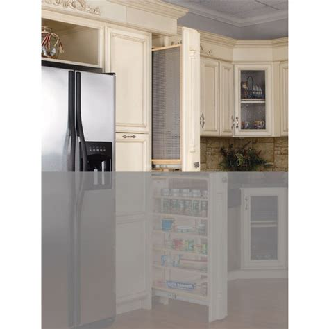 Kitchen Cabinet Filler Kitchen Cabinet Filler Organizer With Perforated Accessory Hanging Panel By Rev A Shelf