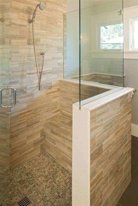 walk in shower with bench seat pin by just me on bathrooms pinterest