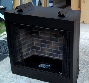 outdoor fireplace firebox paint the brick inner liner of a fireplace gas grills