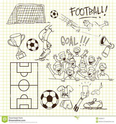 doodle football football doodle stock vector image 43206571