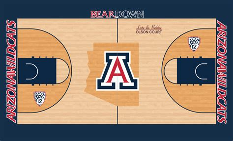 Arizona State Judiciary Search Arizona Basketball Court Concept Concepts Chris Creamer S Sports Logos Community