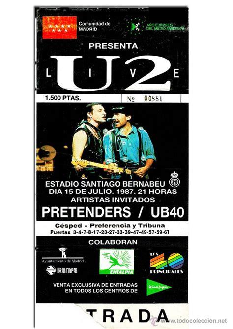 entradas conciertos u2 entrada de concierto de u2 pretenders y ub4 comprar