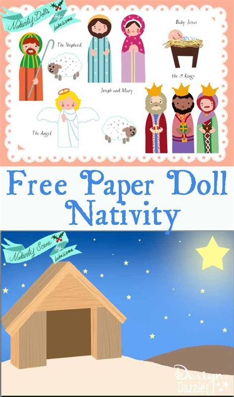 printable paper nativity free paper doll printables the nativity santa s helpers