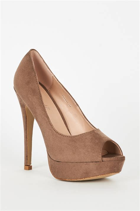 beige suede high heels beige faux suede high heel platform shoes best