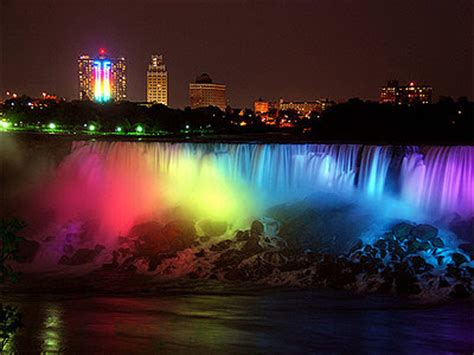 high definition backgrounds niagara falls  night