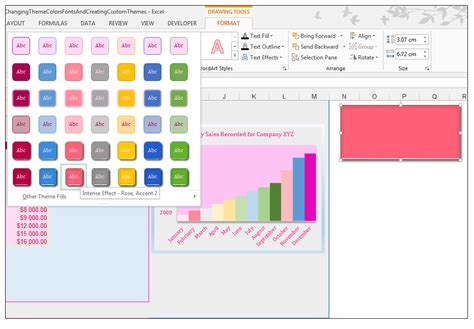 color themes in excel how to modify theme color font effects create custom