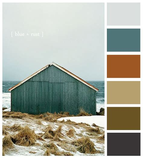 copper color combinations thinking of fall something blue blue rust my favorite