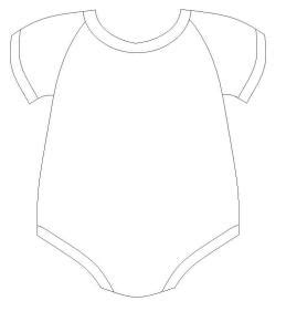 baby shower onesie invitations template