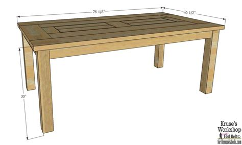building a patio table remodelaholic building plans patio table with built in