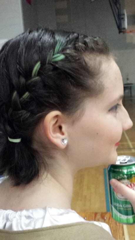 glue in french braids hair ideas for highland dancers with short hair french