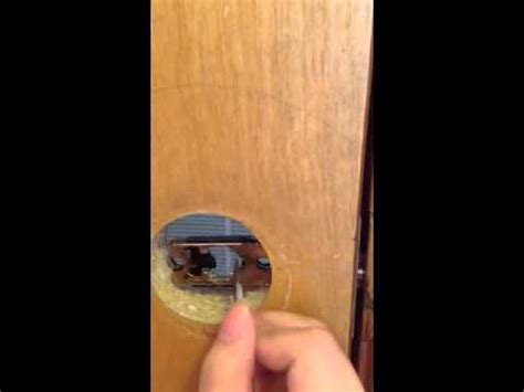 how to unlock a bedroom door without a key how to open a door without the knob youtube