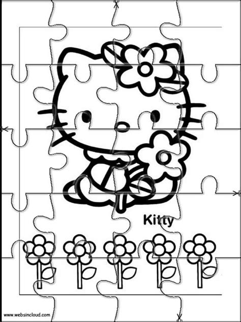 printable jigsaw puzzles to colour hello kitty printable jigsaw puzzles to cut out 25