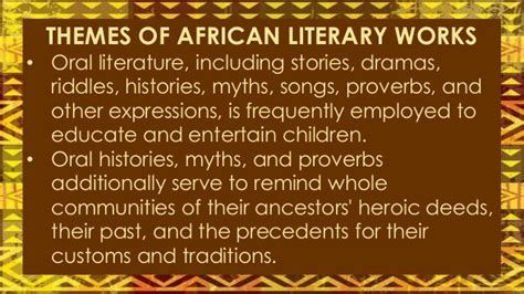 themes in oral literature african literature