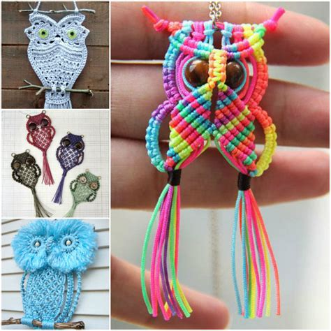 Wonderful DIY Cute Macrame Owls