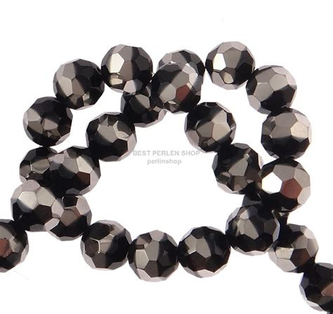 Muster Berichtigung Rechnung Silberrahm Tschechische Glas Perlen Best Kristall Rund Schwarz 12mm R71 Ebay