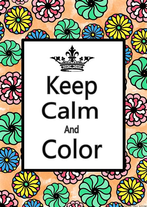keep calm and color on jalien cozy living keep calm and color