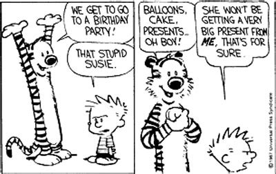 Calvin And Hobbes Quotes On Birthdays by Calvin And Hobbes Birthday Quotes Quotesgram