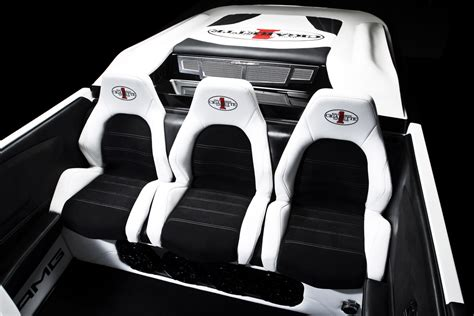 boat upholstery miami cigarette boat inspired by mercedes benz amg black series