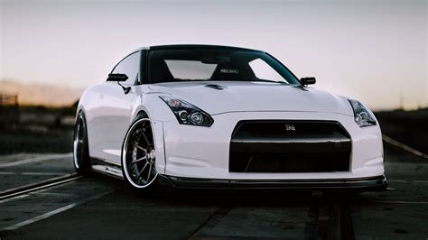 nissan white car nissan gt r r35 white car front view wallpaper cars