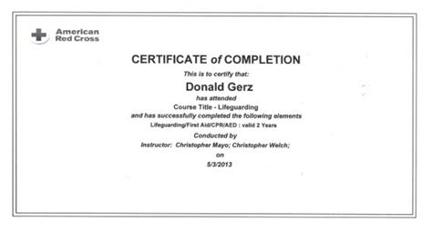 cross lifeguard certification card template cross lifeguarding certification yellow brick road