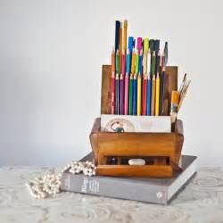 pencil desk organizer pencil holder desk organizer from a vintage deco cigarette