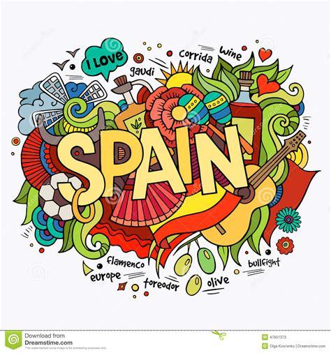 doodle significado en español letras de la mano de espa 241 a y elementos de los garabatos