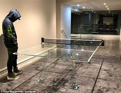 floyd table legs uk mayweather fools around on 163 21 000 glass ping pong table