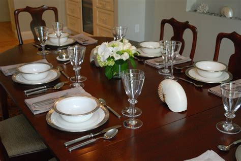Dining Room Table Setting Dishes 2011 Wellesley Kitchen Tour Didriks