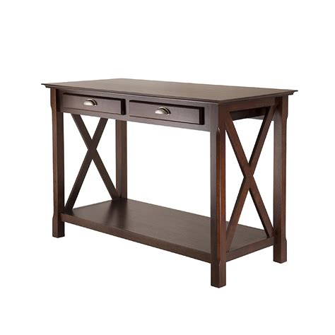 winsome xola console table w shelf and 2 drawers