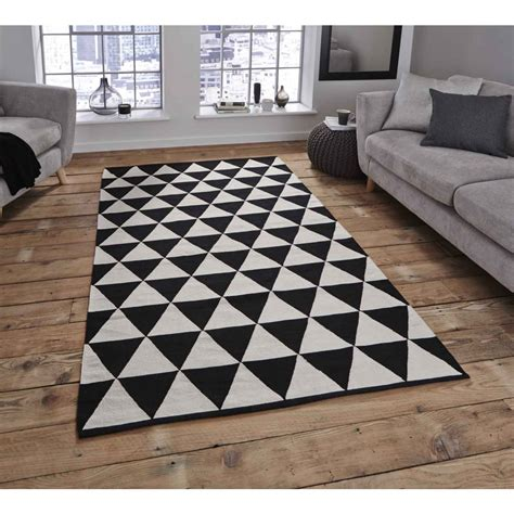 black and white triangle rug accessories black and white rug kropyok home interior exterior designs