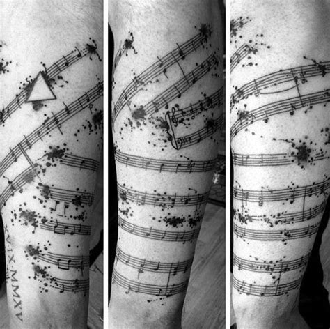 music staff tattoo designs 50 staff designs for musical pitch ink