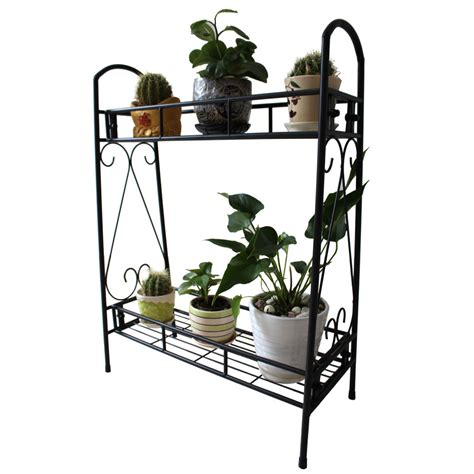 layer shelves indoor plant stand display flower pots