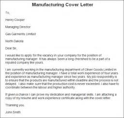 Fabrication Engineer Cover Letter by Impressive Manufacturing Cover Letter Sle For Sle Manufacturing Cover Letter