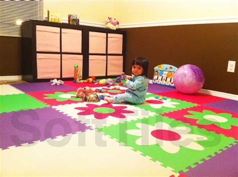 Baby Soft Floor Tiles by Flower Foam Tiles Flooring Ideas For Baby S Room Plays Soft Tiles And Flower
